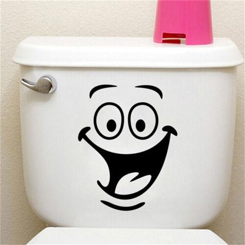 Sourire visage WC toilette autocollant mural art Decor Sticker vinyle HQ