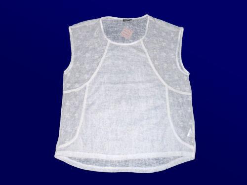 40-48 wollweiß modernes Damenshirt T.-Shirt Blusenshirt leicht tansparent Gr