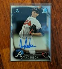 BRAVES 2016 OVERALL #3 PICK! IAN ANDERSON 2015 LEAF PERFECT GAME CERTIFIED AUTOGRAPHED ROOKIE CARD