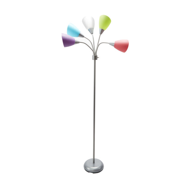 5 Head Floor Lamp Multi Color Pinks