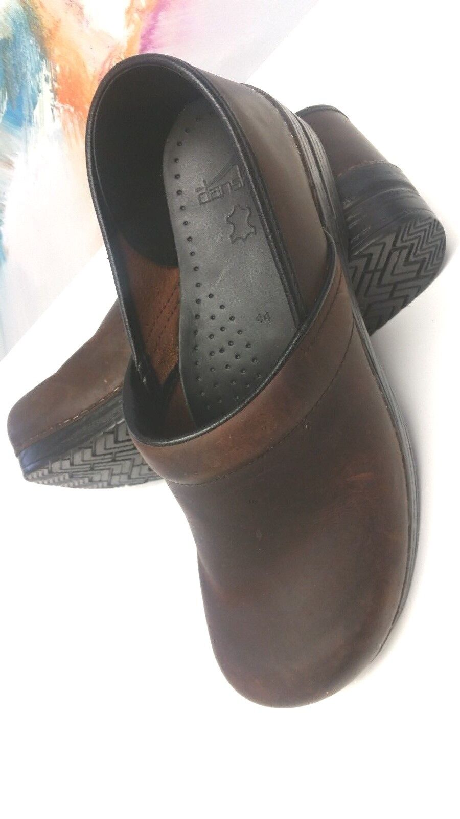 6e0359de2e3 EUC DANSKO WOMEN'S PROFESSIONAL SLIP-ON CLOG CLOG CLOG BROWN OILED ...