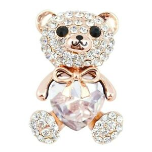 BROOCH-Big-Crystal-Heart-Teddy-Bear-Brooch-Fashion-Pin-Mothers-Day-Gift