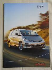 Toyota Previa range brochure Nov 2003