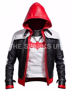 Batman Arkham Knight Game Red Hood Faux Leather Costume Jacket /& Vest BIG SALE