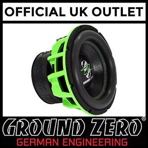 Ground-Zero-GZHW-30SPL-GREEN-12-034-30cm-Dual-1-Ohm-SPL-3000-Watts-Car-Subwoofer