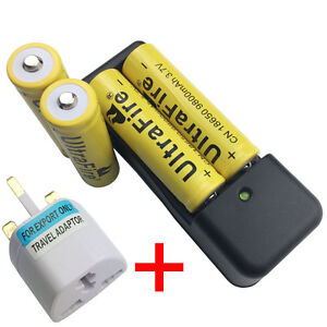 4X-18650-Battery-3-7V-9800mAh-Li-ion-Rechargeable-With-4-2V-Charger-UK-Adaptor