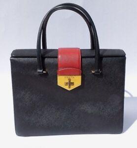 841abbbcb3484e Image is loading PRADA-Saffiano-Leather-Double-Gusset-Tri-Color-Flap-