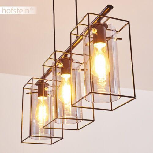 Pendel Leuchten schwarze Ess Wohn Schlaf Zimmer Beleuchtung Retro Hänge Lampen