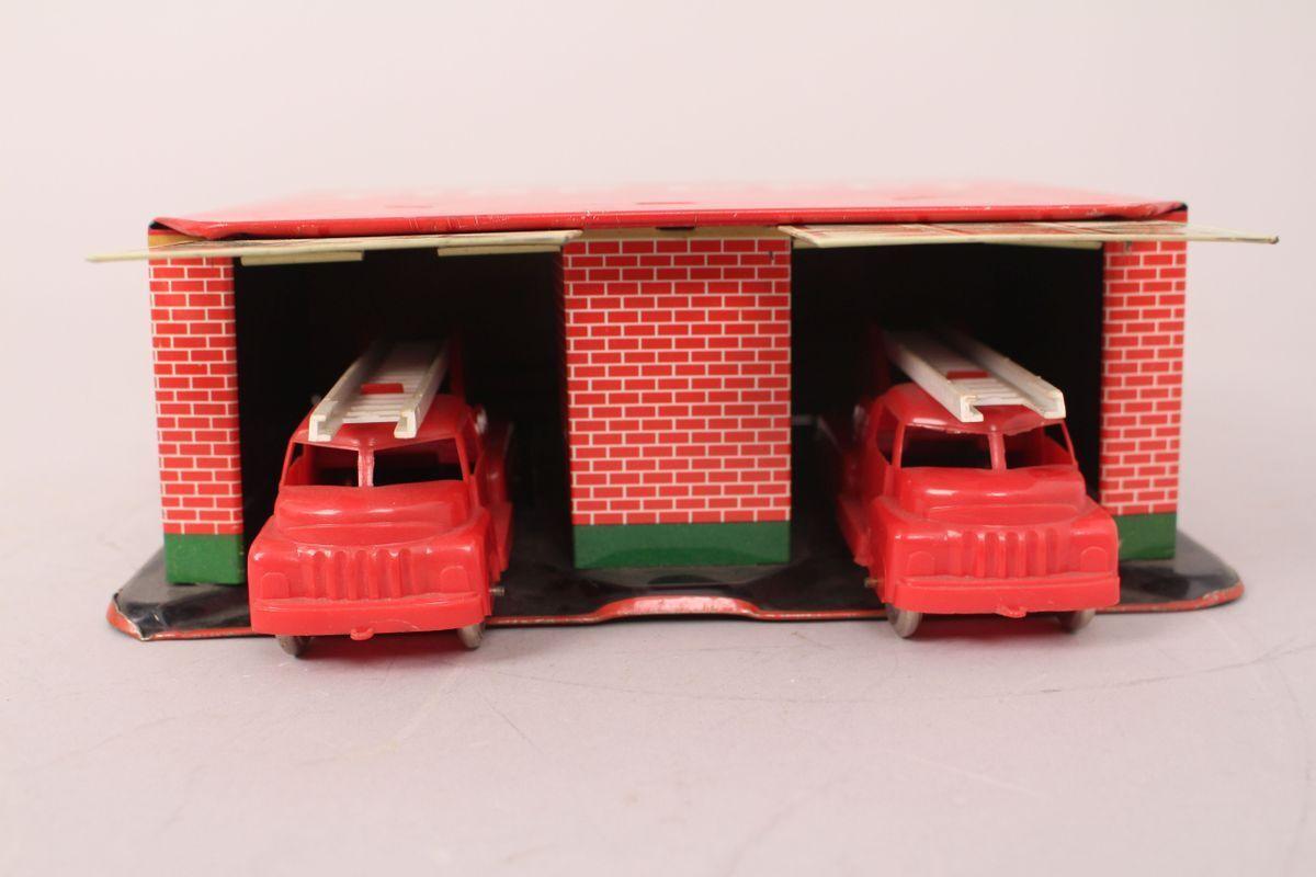 Philipp Niedermeier Fire Dept. Fire Garage Double Garage Tin Toy