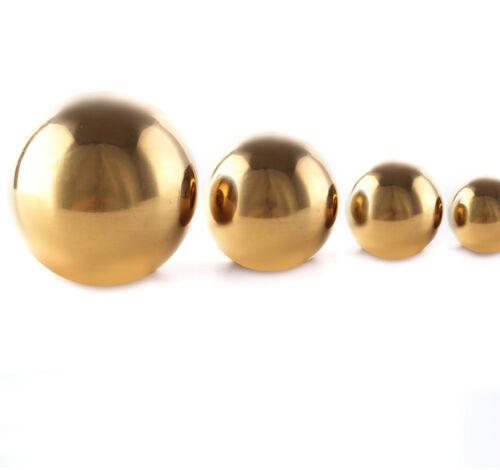 1PC ACIER INOXYDABLE MIROIR POLI Sphere Hollow Boule De Jardin demi-boule or