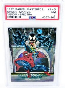 1992-Marvel-Masterpieces-Battle-Spectra-4-D-Venom-vs-Spider-Man-PSA-NM-7