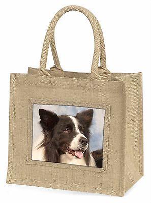 Border Collie Hund Große Natürliche Jute-einkaufstasche Weihnachten , AD-CO4BLN