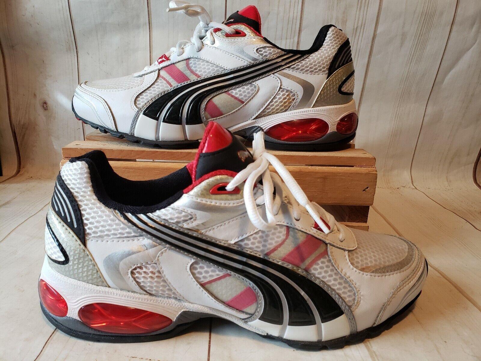 PUMA Cell Surin 2 Matte Training Running shoes Men Sz 7M White Red Blk 185498 01