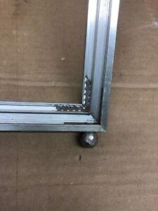 Antique-Palmer-Smith-Aluminum-Picture-Frame-Rare-Art-Deco-11x14-ball-feet