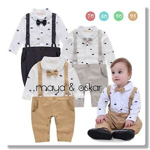b2bd9f4204 Details about Baby Boys Navy White Party Wedding Smart Outfit Tuxedo Sailor  Romper Set 6-24mth