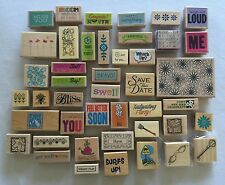 Wooden Rubber Stamp 44 pc Lot NEW Scrapbooking Family Party Friends & More Lot B