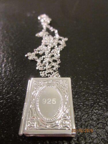 NEU 925 Sterling Silber Kette BÜCHLEIN Anhänger AMULETT aufklappbar TOP Geschenk