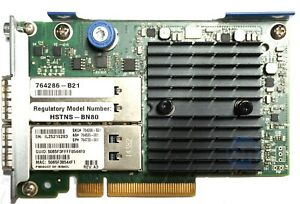 HP-764286-B21-QDR-544-FLR-QSFP-Dual-Port-10Gb-QSFP-764738-001-HCA