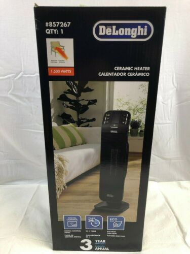 Delonghi 1500W Ceramic Tower Electric Space Heater w//Thermostat /& Remote 857267