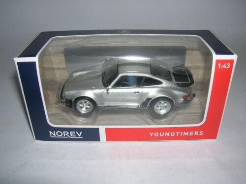 Norev youngtimers Porsche 911 turbo 3,3 plata Silver 1:43 artículo 430201