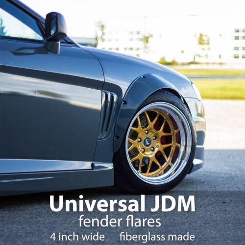 "4/"" Universal JDM Fender Flares Fiberglass"