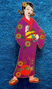 Yokohama-Japones-Geisha-Nina-Purpura-Kimono-Mensual-Serie-01-Hard-Rock-Cafe-Pin