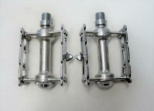 ~ Beautiful NOS 60's Campagnolo #1038 Record Track Pista Chrome Pedals ~