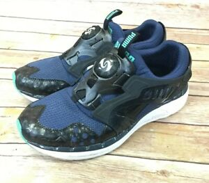 Herren Puma Disc System Sneaker SZ 10.5 blau schwarz mint