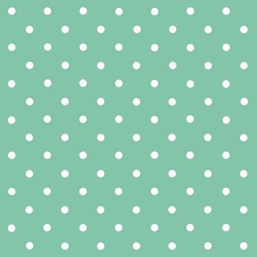 d-c-fix Sticky Back Plastic Self Adhesive Vinyl Wrap Polka Dot Mint 45cm x 15m