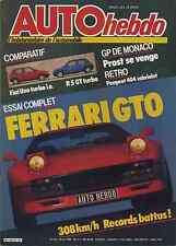 AUTO HEBDO n°472 du 23 Mai 1985 GP MONACO FERRARI 288GTO MERCEDES 190
