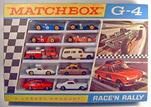 MATCHBOX Giftset g-4  race 'N' rally set  1968