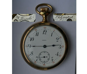Scarce-MONOPOL-21-Jewels-Swiss-Made-Antique-POCKET-WATCH-16s-RUNS-GF-Case-50mm