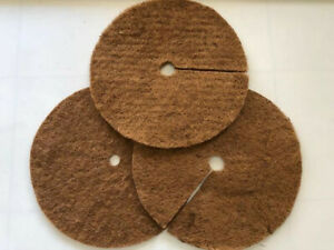 Coconut fiber tree ring mulch weed root protector mat 24 inchLarge 24 pack