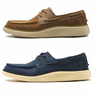 Skechers-Status-Former-Oiled-Leather-Boat-Deck-Shoes-in-Navy-Blue-amp-Brown-65894