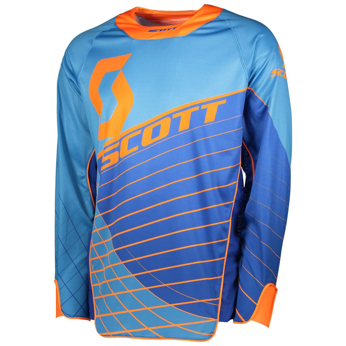 Scott Scott Scott Enduro MX Motocross Jersey   DH Fahrrad Trikot blau Orange 2018 4b3927