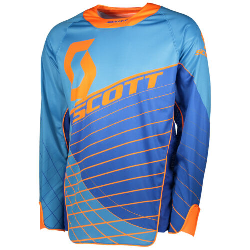 Scott Enduro MX Motocross Jersey DH Fahrrad Trikot blau//orange 2018