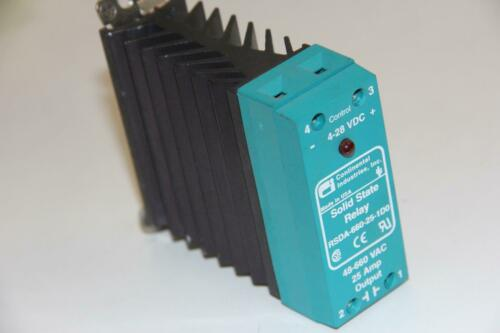 CONTINENTAL INDUSTRIES RSDA-660-25-1D0 48-660VAC 25A Output Solid State Relay