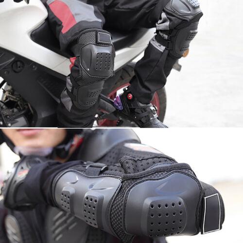 4pcs//Kit Elbow Knee Shin Armor Protector Guard Pads for Motorcycle Bike Racing