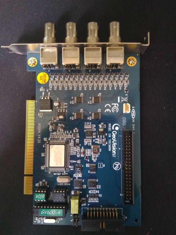 Andet, Geovision GV-600-4 Capture Card + Black Dongle NVR,
