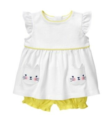 Gymboree Baby Girls Meow /& Roar Floral Dress Set Size 0-3 6-12 months NWT NEW