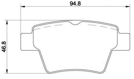 Premium OE Quality Replacement Rear Brake Pad Set