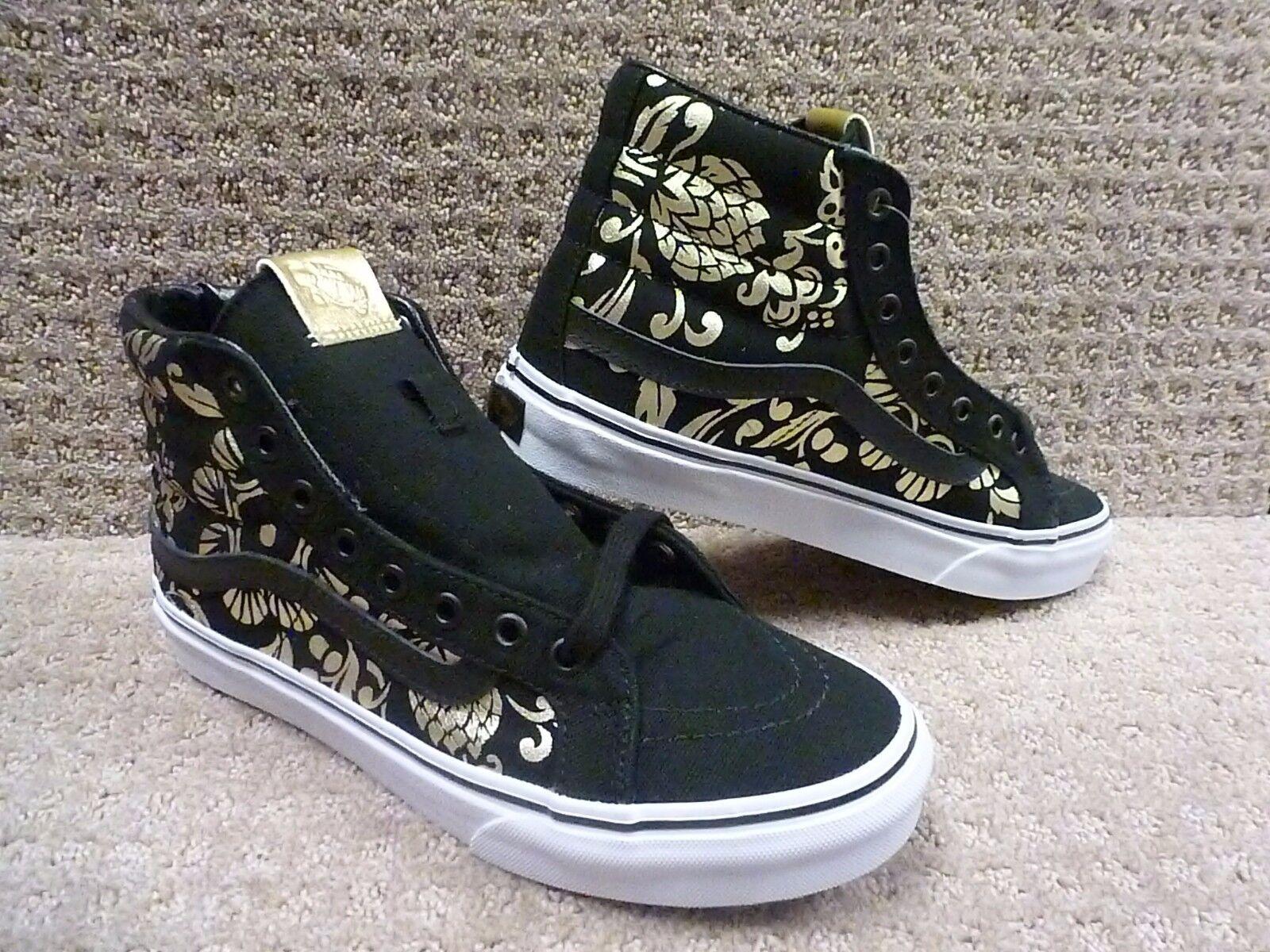 Vans Men's shoes  Sk8-hi Slim  (50th) Duke Blk gold Foil