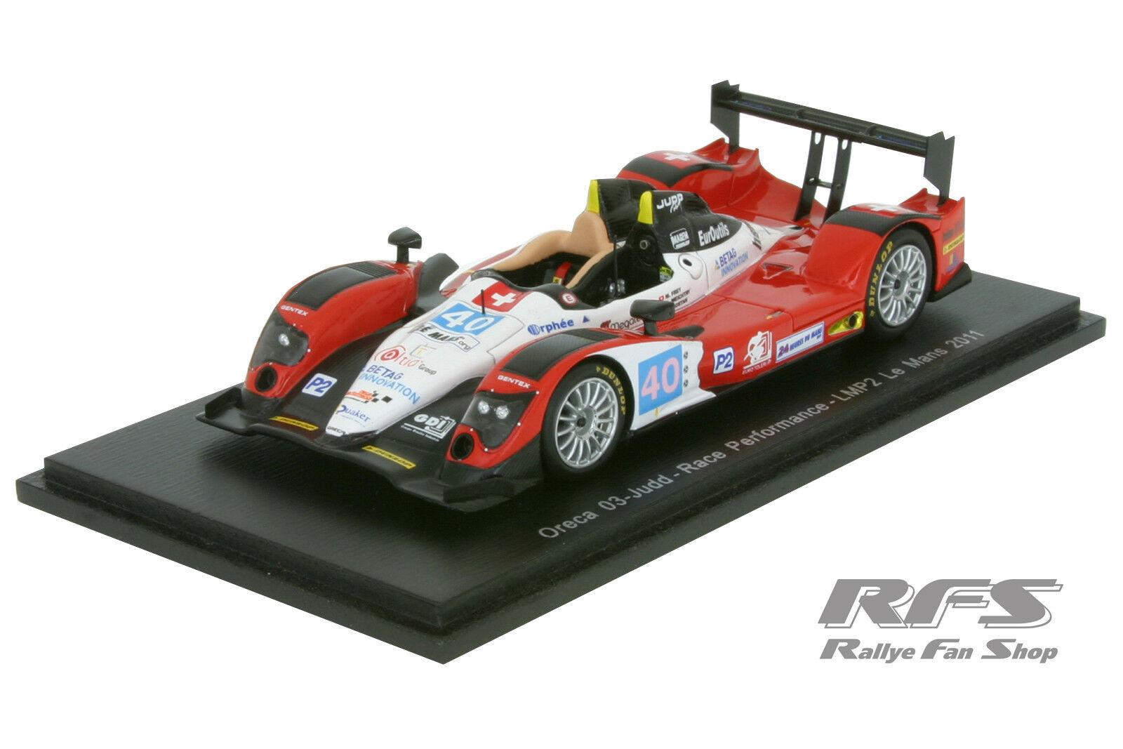 Oreca 03-Judd Bmw - 24h Le Mans 2011-FREY Meichtry - 1 43 spark 4555