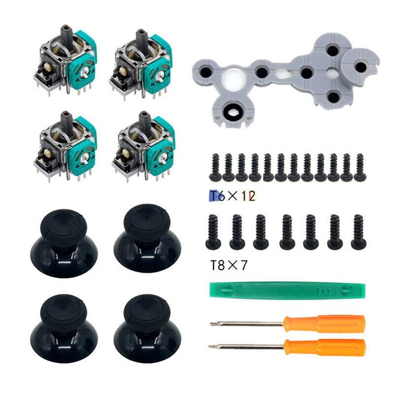 3D Joystick Analog Sensor Shaft Parts Replacement Kit for XBox One Controller