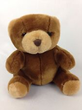 "Teddy Logo Bear 1999 Brown Sitting 7"" Stuffed Animal Plush Toy Gift"