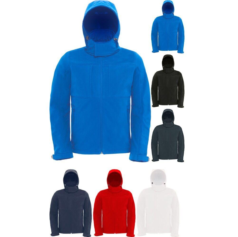 Mens Hooded Softshell Performance Jacket Full Zip with Balaclava Hoodie