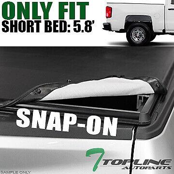 Topline For 2014 2019 Toyota Tundra 5 5 Ft Bed Hidden Snap Vinyl Tonneau Cover