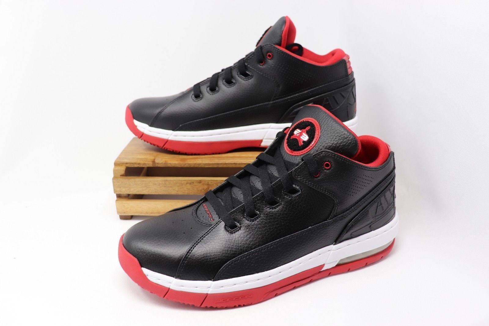 89a9c4b87d7 Nike Jordan Ol school Low Mens 317765-006 Black Red Basketball Shoes ...
