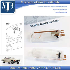Originale-Mercedes-Benz-W107-C107-SLC-Luci-Interne-Frontale