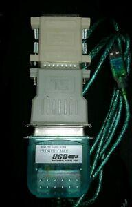 USB-2-0-to-2x-ADATTATORE-CAVO-STAMPANTE-LPT-IEEE-1284-CAVO-STAMPANTE-PRINTER